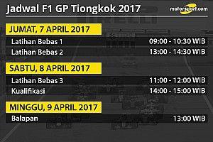 Jadwal lengkap F1 GP Tiongkok 2017