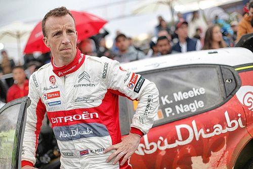 Videón, ahogy Meeke rongyol az összetört Citroen C3 WRC-vel