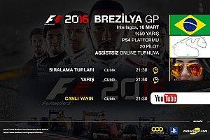 F1 2016 online turnuva: Brezilya GP - Canlı Yayın