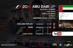 F1 2016 online turnuva: Abu Dabi GP - Canlı Yayın