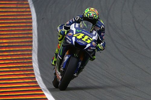 """Rossi: I was """"lucky"""" to qualify on the front row"""
