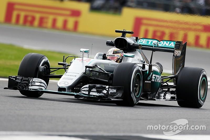 British GP: Hamilton quickest again, as Rosberg hits trouble