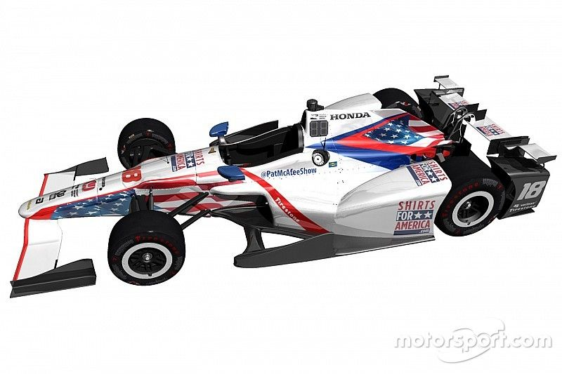 Daly to run patriotic Indy 500 livery in partnership with Pat McAfee