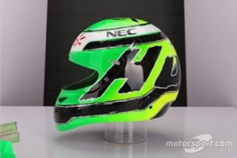 Hulkenberg revela nova pintura no capacete para 2016