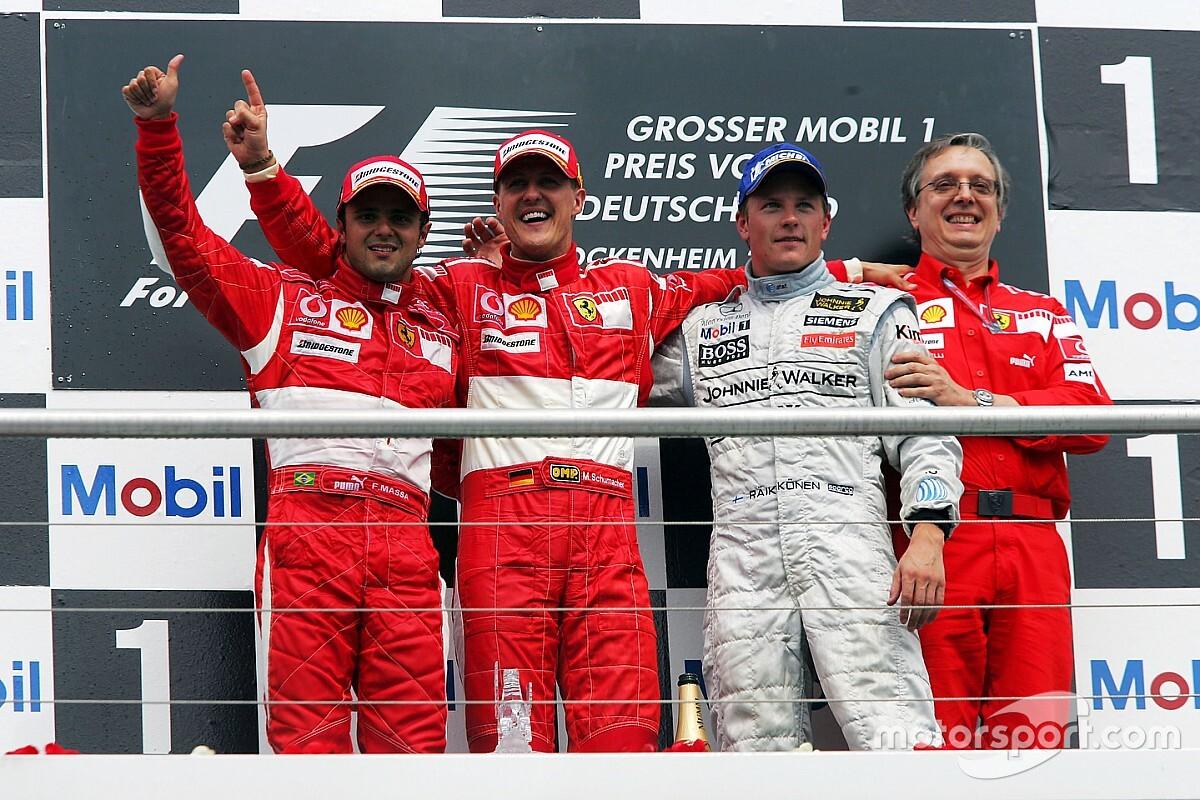 Massa relembra dia em que Raikkonen exagerou na dose e 'zoou' Schumacher
