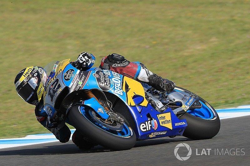 Tom Lüthi (23.) kämpft in Jerez mit den Bedingungen