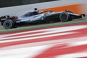 Hamilton marcó el paso este jueves en Barcelona