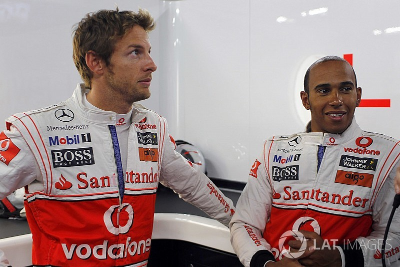 "Hamilton was a ""bit weird"" as teammate, says Button"