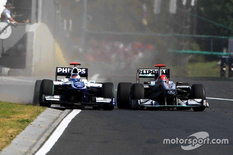 Ungarn 2010: Michael Schumacher vs. Rubens Barrichello