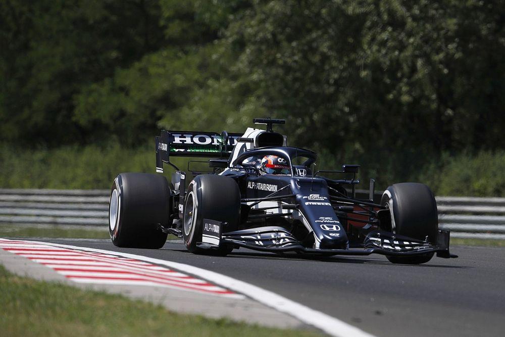 F1ハンガリーFP1速報:フェルスタッペン最速。角田裕毅はクラッシュ、12番手