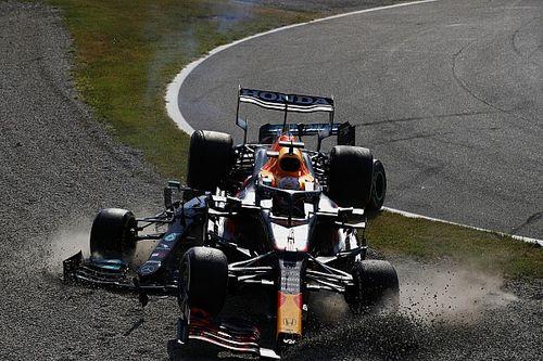 Las brutales fotos del accidente Hamilton-Verstappen en Monza