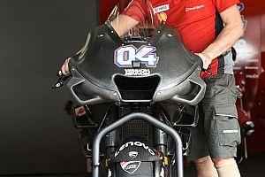Ducati exhibe un nuevo carenado experimental con tres alas