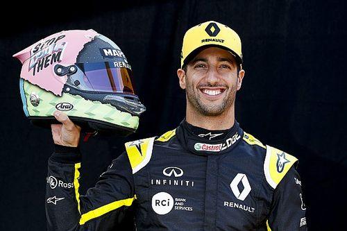 Ricciardo ha svelato i nuovi colori del casco che indosserà nel Mondiale 2019 di F1