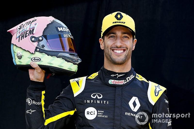 Ricciardo, 2019 sezonunda yarışacağı kask tasarımını tanıttı!