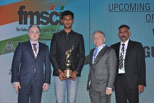 Rangasamy named Upcoming Motorsports Person of The Year by FMSCI