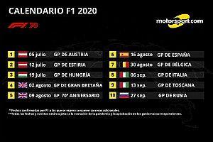 F1 anuncia 10 primeras carreras del calendario 2020