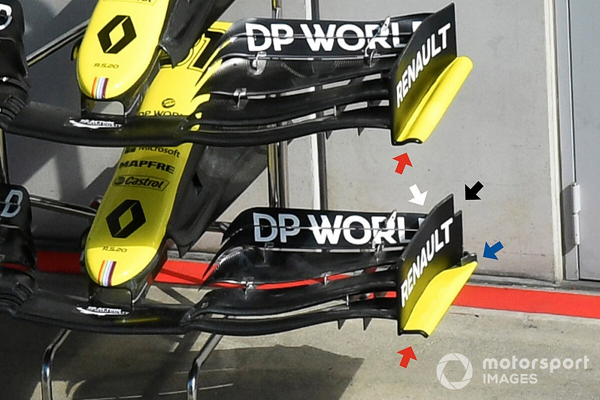Технический брифинг: новое переднее крыло Renault RS20