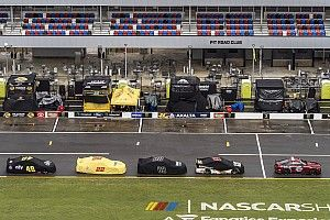 Talladega Cup race halted by rain with Reddick out front