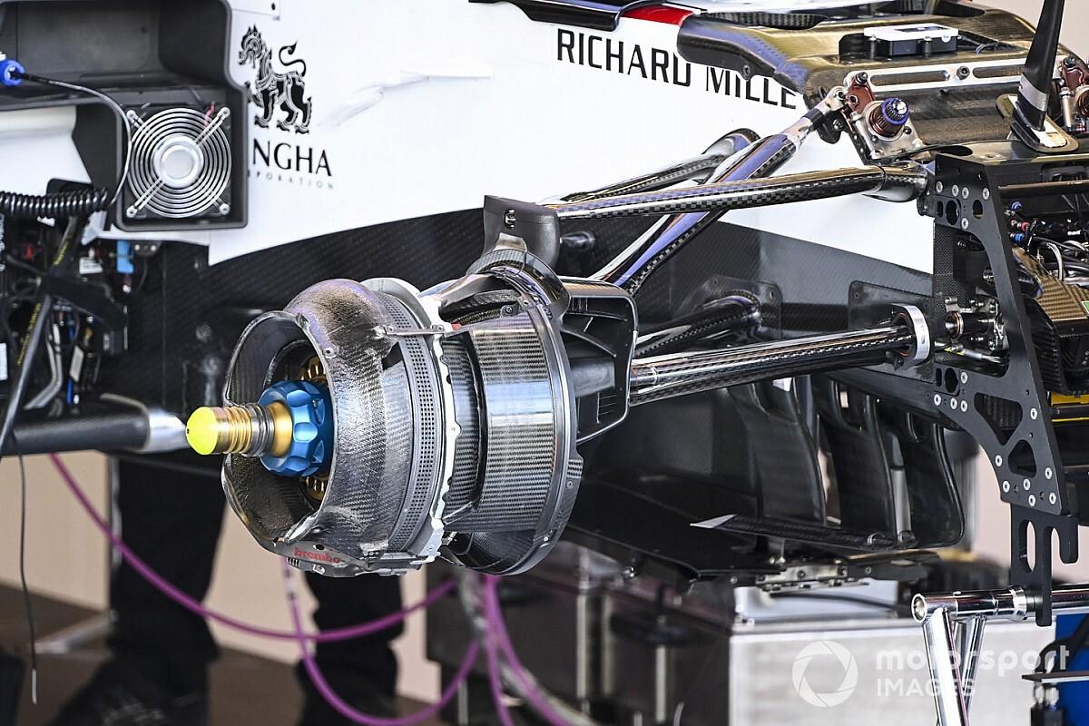 GALERÍA TÉCNICA: Novedades de los F1 desde la pista de Silverstone