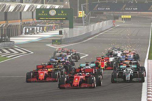 Russell Menangi Virtual Grand Prix Britania Raya