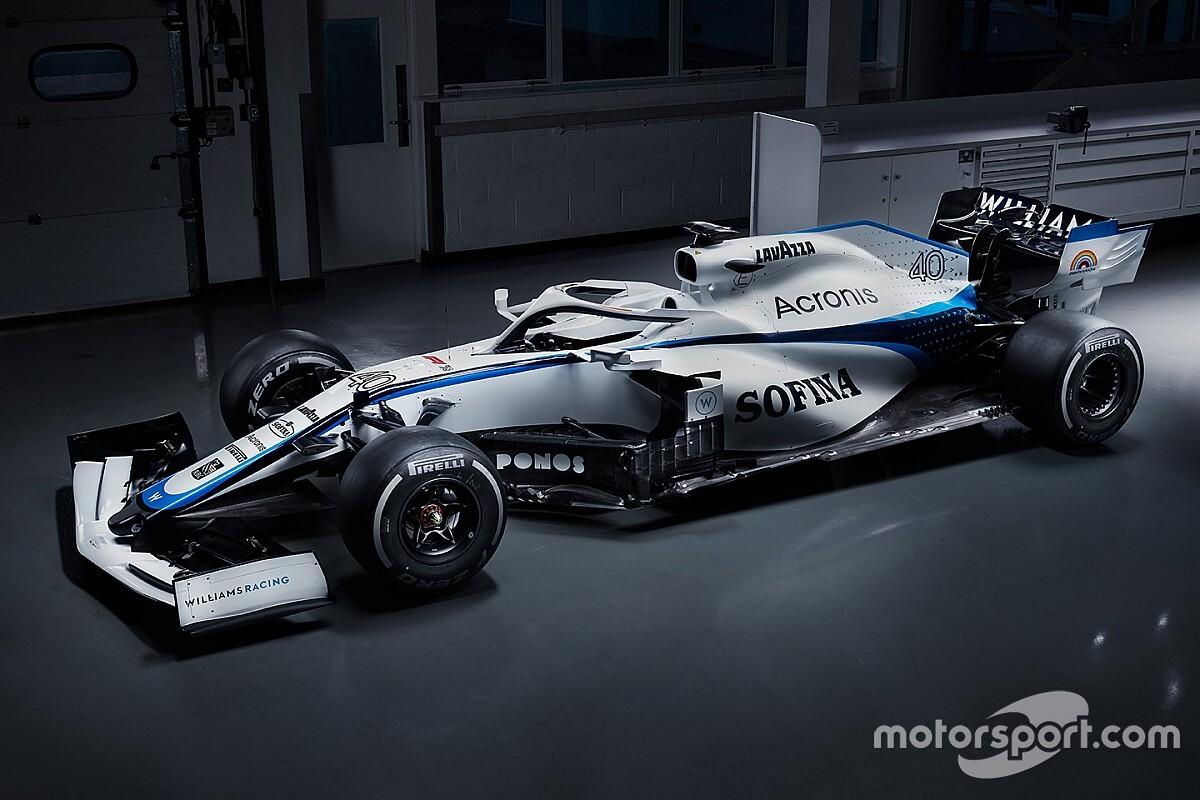 ウイリアムズF1が新カラーリングを発表。ROKiT離脱で2020年マシンカラーが変更
