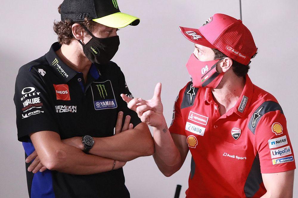 """Rossi """"happy"""" Dovizioso will be his final MotoGP team-mate"""