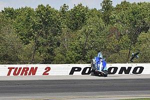"""Rosenqvist tuvo """"suerte"""" de evitar lesiones en choque en Pocono"""