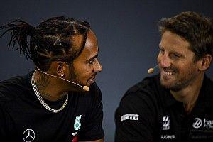 Грожан больше года не может набрать очки в Формуле 1. И что он делает? 45 минут болтает с Хэмилтоном о коленопреклонении