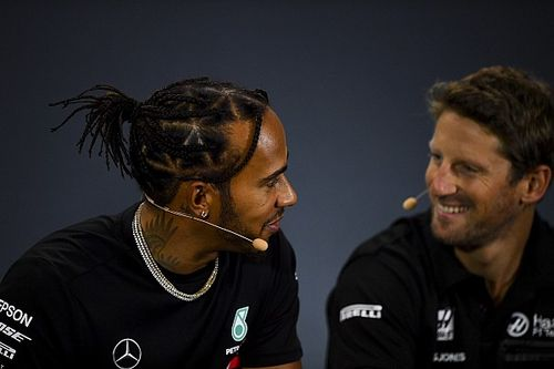 Grosjean clears air with Hamilton over anti-racism message