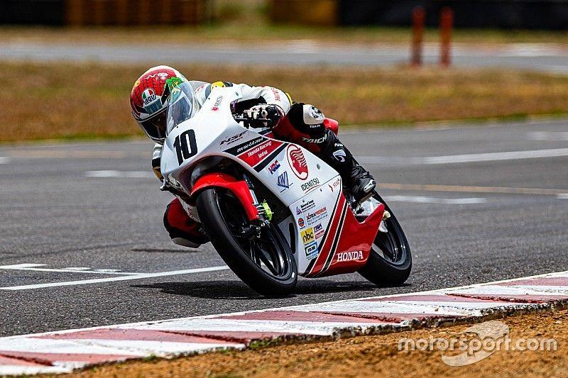 Honda NSF 250: Varoon wins after multi-bike startline crash