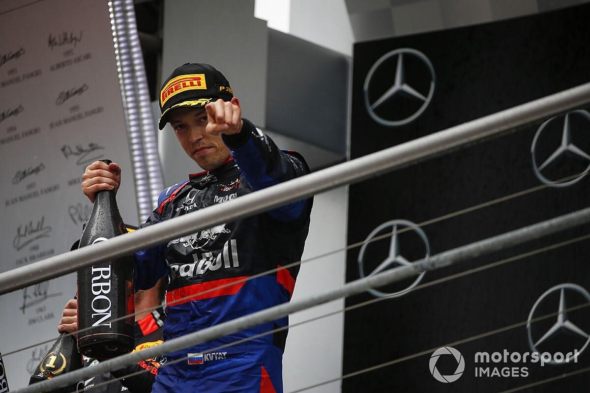 """Kvyat : Le podium a prouvé que """"je n'étais pas revenu pour rien"""""""