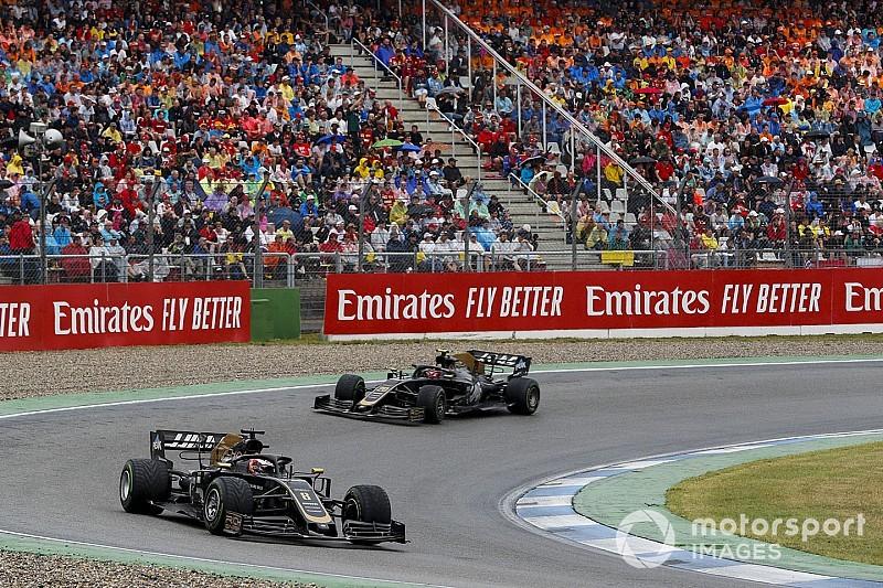 Haas envisage des consignes d'équipe entre Grosjean et Magnussen