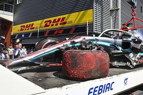 FP3でクラッシュのハミルトン、マシンの修復は予選までに完了の見込み