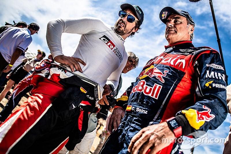 Sainz: Alonso lo tendrá difícil en el Dakar