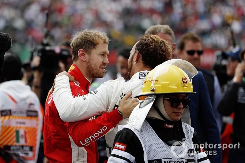 """Vettel: Hamilton a été """"le meilleur de nous deux"""" cette année"""