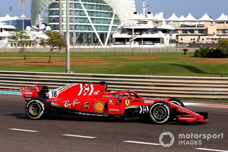 Abu Dhabi, Test Pirelli, Giorno 2: Leclerc ancora al top con la Ferrari. Problemi per Giovinazzi
