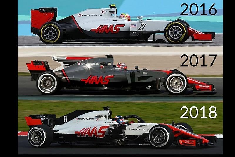 GALERÍA: Todos los autos de F1 de Haas desde 2016