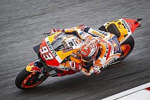 Sepang MotoGP: Marquez crashes, takes pole after rain delay