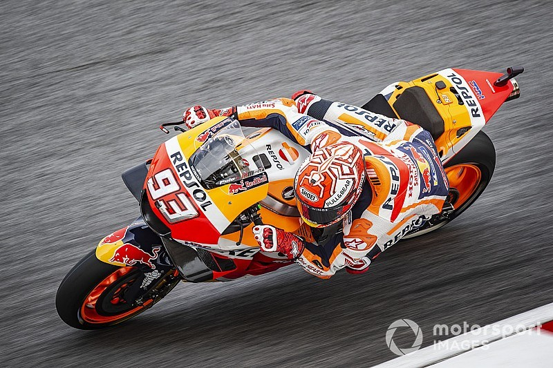 Sepang MotoGP: Marquez crashes, takes pole after rain delay