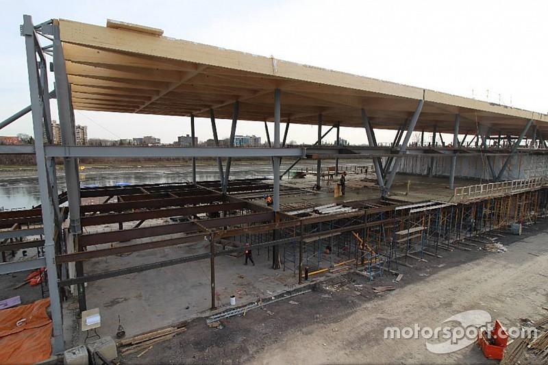 La construction du nouveau paddock du circuit de Montréal progresse