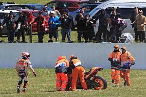 """Marquez: """"Ero come un palo sulla moto e la caduta non mi è piaciuta per niente"""""""
