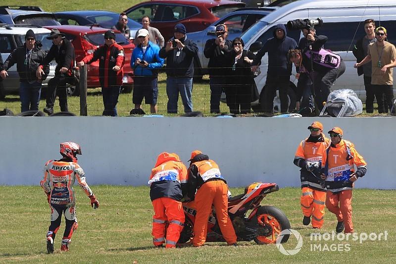 """Márquez: """"Iba como un palo sobre la moto y la caída no me gustó nada"""""""