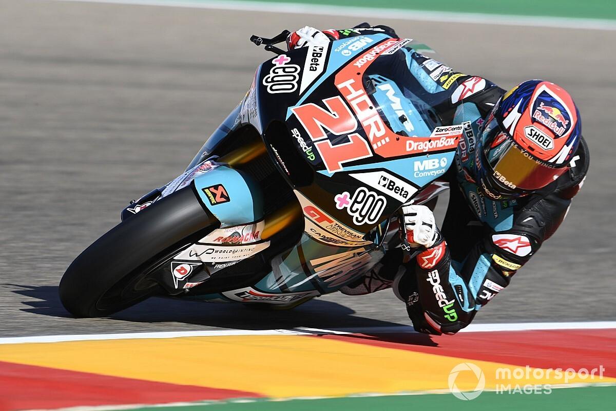 Moto2, Valencia, Libere 2: Di Giannantonio su Lowes