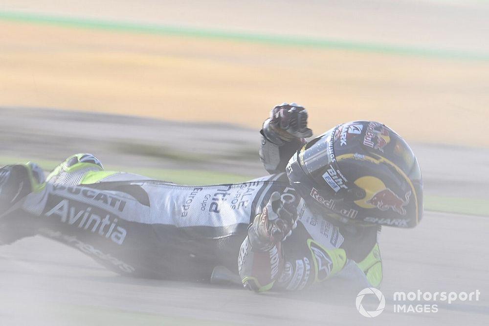 Johann Zarco premier Ducati, mais agacé par ses deux chutes