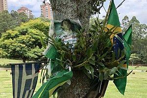 Senna aún vive en el cementerio de Morumbi
