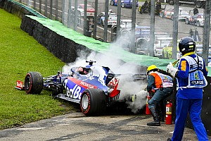 VIDEO: los tres accidentes que condicionaron el viernes del GP de Brasil