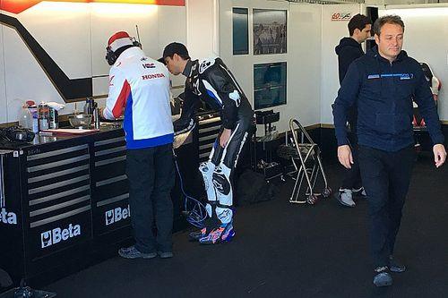 Caída de Alex Márquez en su debut con Honda en MotoGP