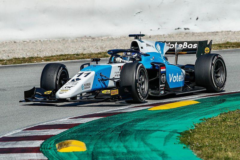 Verschoor tops times on second day of Barcelona F2 test