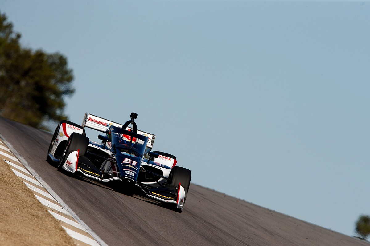 VeeKay tops test at Barber, Grosjean within one second