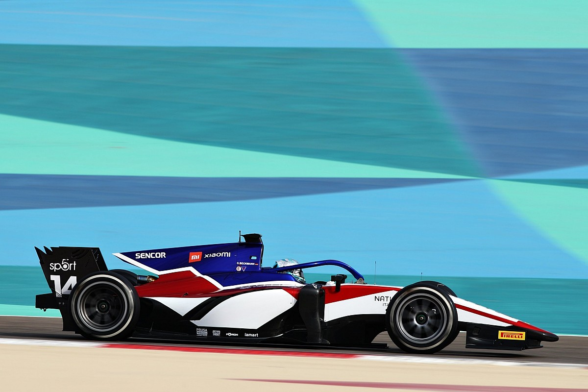 Rookie Beckmann ends first F2 test day on top